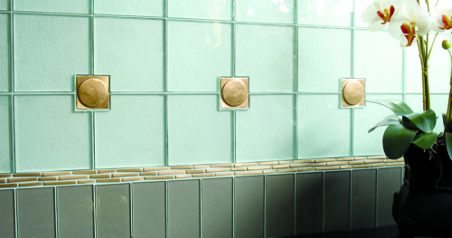 Modern Bronze Accent Tile