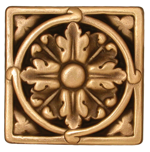 Acanthus Large solid bronze decorative tile