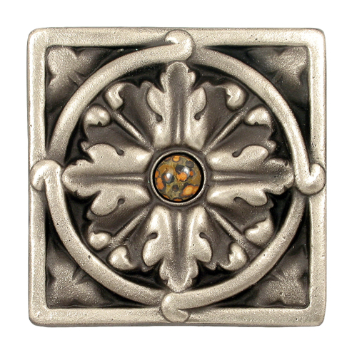 Solid Bronze decorative tile - jeweled option