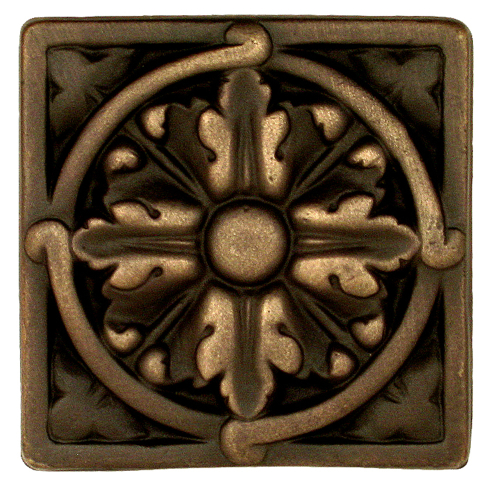 Acanthus Large solid bronze oil rubbed decorative tile