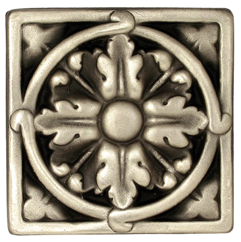 Acanthus Large silver solid bronze decorative tile