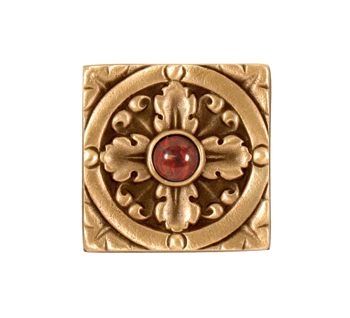 Classic Bronze finish with jewel option Decorative Solid Bronze Tile