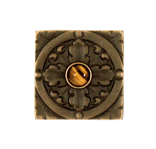 Oil Rubbed finish with jewel option Decorative Solid Bronze Tile