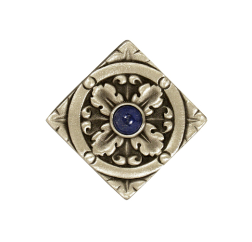 Decorative Solid Bronze Tile Silvertone finish with jewel option