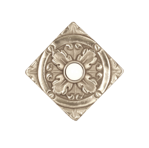 Decorative Solid Bronze Tile Silver Bright finish with jewel option