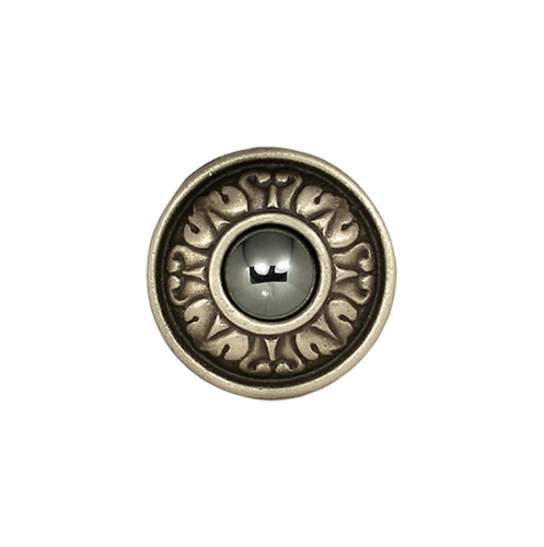 Handcrafted solid bronze drawer and cabinet knob with Jewel option