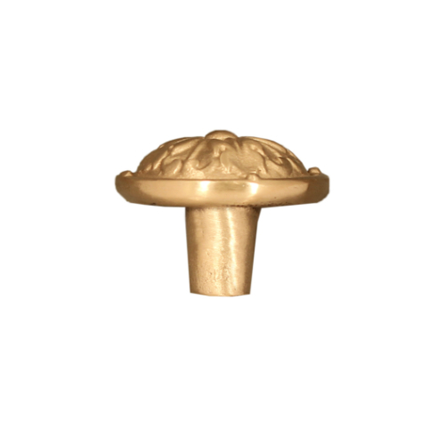 Acanthus Round solid bronze drawer and cabinet knob