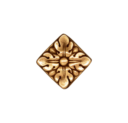 Solid bronze artisan tile 1.25'' square