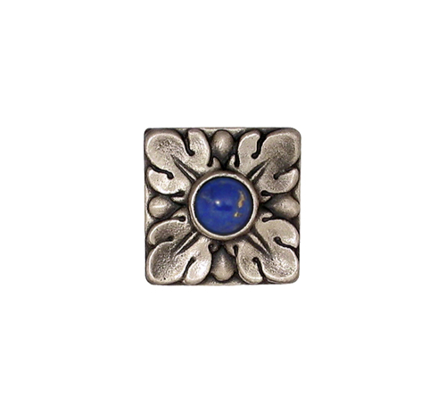 Jeweled solid bronze accent tile 1.25'' square