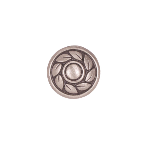 Decorative solid metal drawer knob cabinet pull Silver