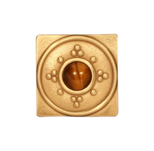 Bronze Square Tile with Jewel Options