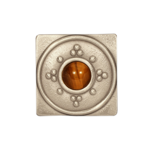 Silver Bright Square Tile with Jewel choices