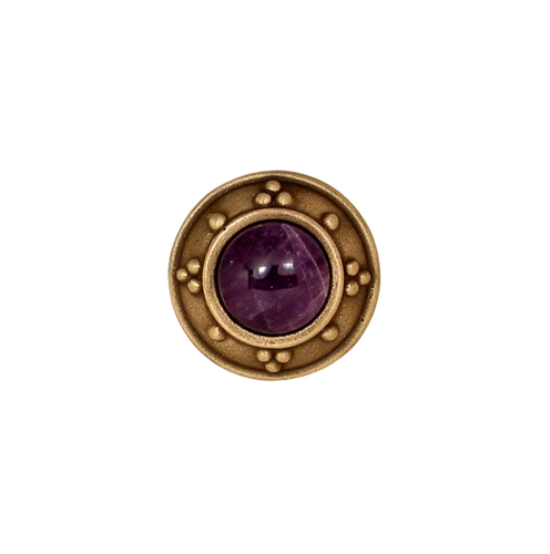 Circle knob with jewel options