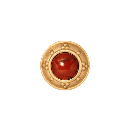 Round Cabinet Knob with Jewel Options