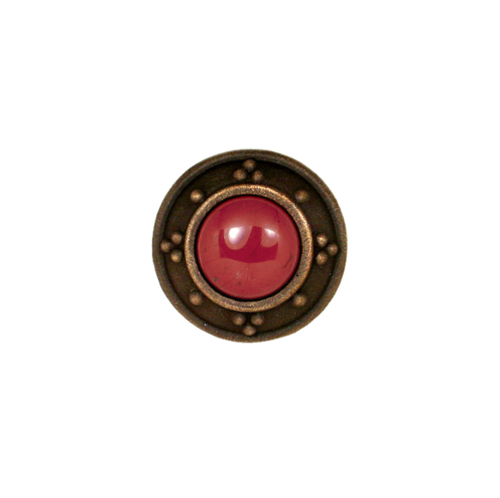 Dark Bronze Round Knob with Jewel Options