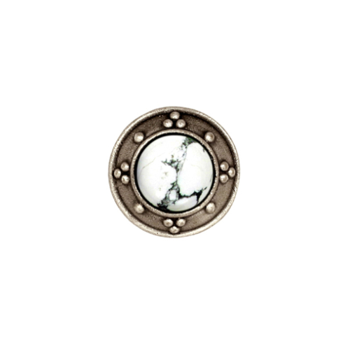 Silver bronze Jeweled Cabinet Knob with jewel options