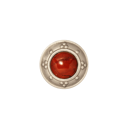 Drawer Knob in Silver Bright with Jewel Options