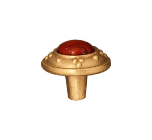 cabinet knob in bronze bright with jewel options