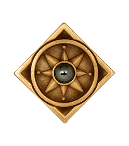 square Bronze Compass with Jewel choice