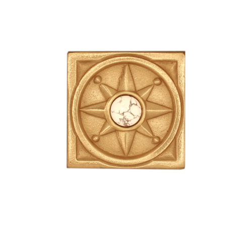 Deco Tile Compass Rose with Jewel Choices