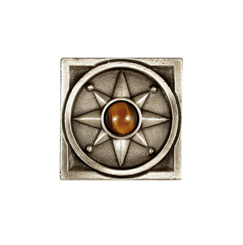 Decorative Compass Rose in SIlvertone