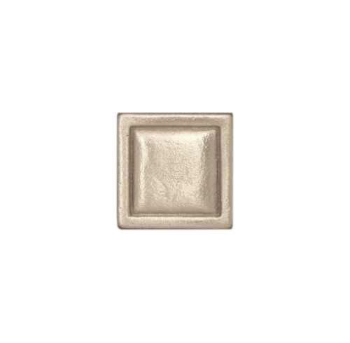 Silver Square Tile in White Bronze
