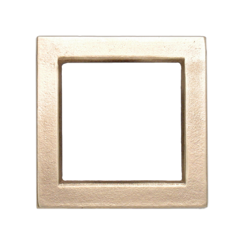 "Bronze square with 2"" by 2"" center"
