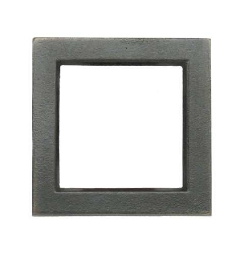 Dark bronze square border with 2 x 2 opening