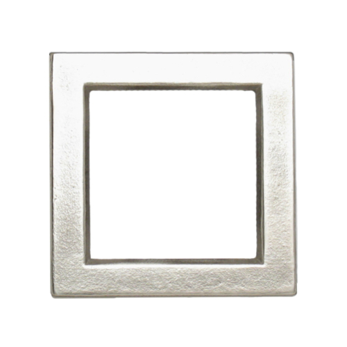 Silvertone Bright Square frame with 2 x 2 center