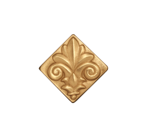 Golden Fleur-de-lis tile in bronze