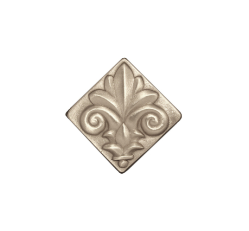 Silvertone Bright durable Fleur-de-lis square tile