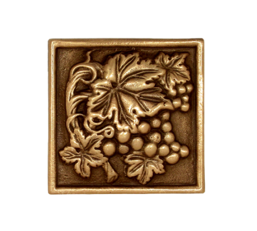 Solid bronze grape vine deco tile