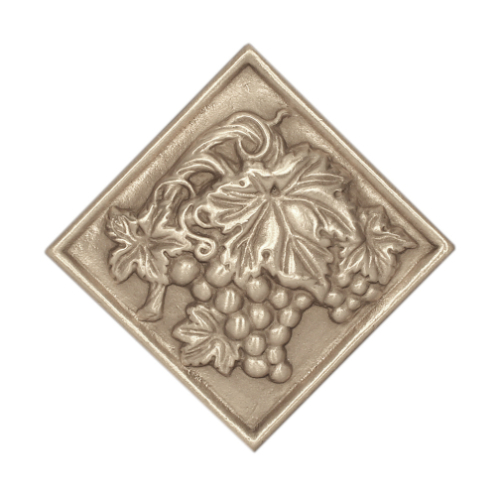 Decorative deco tile with vineyard grape vines and leaves