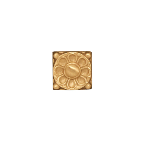 Golden greek floral deco tile