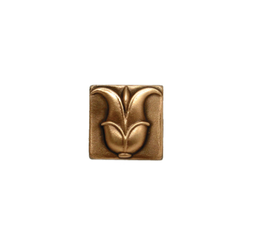 small grecian lotus accent tile in solid bronze