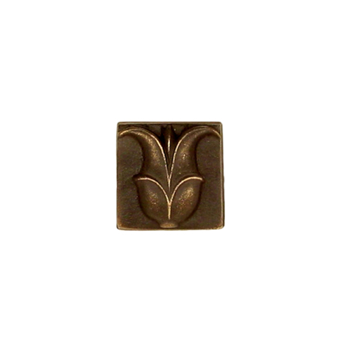 greek lotus flower tile in antique solid bronze