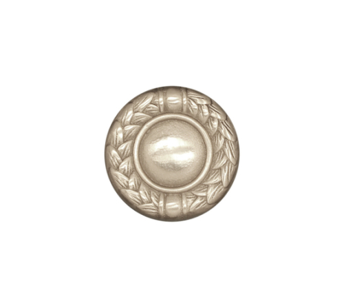 round leaf tile in solid silver bronze