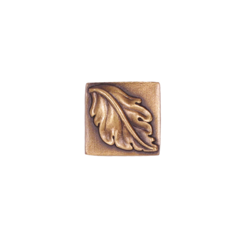 square leaf tile in solid bronze