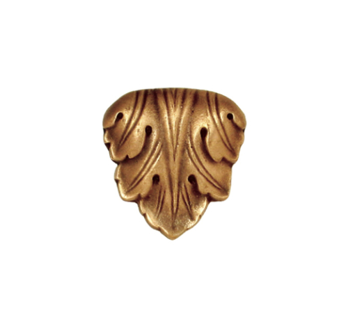 Decorative cabinet knob leaf