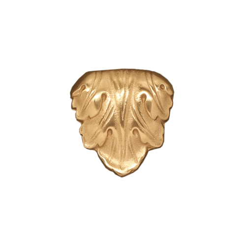 golden leaf cabinet knob in solid bronze