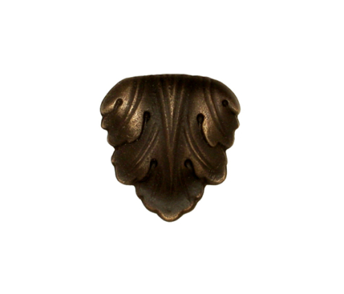 decorative antique bronze leaf knob for cabinet