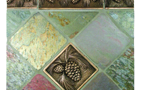 bronze liner metal tile