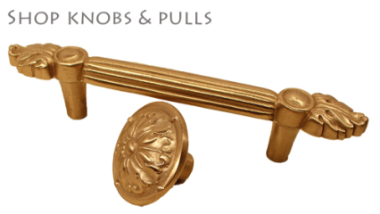 Saint Gaudens bronze knobs and pulls
